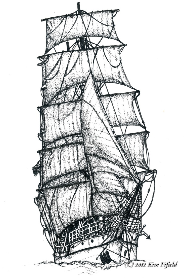 Drawn sailing ship Designs best Skibe Fat Pinterest