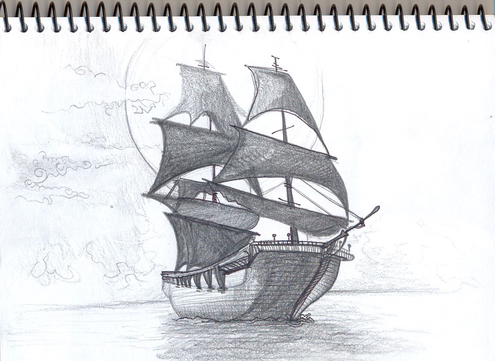 Drawn ship pencil drawing On Grace  com by