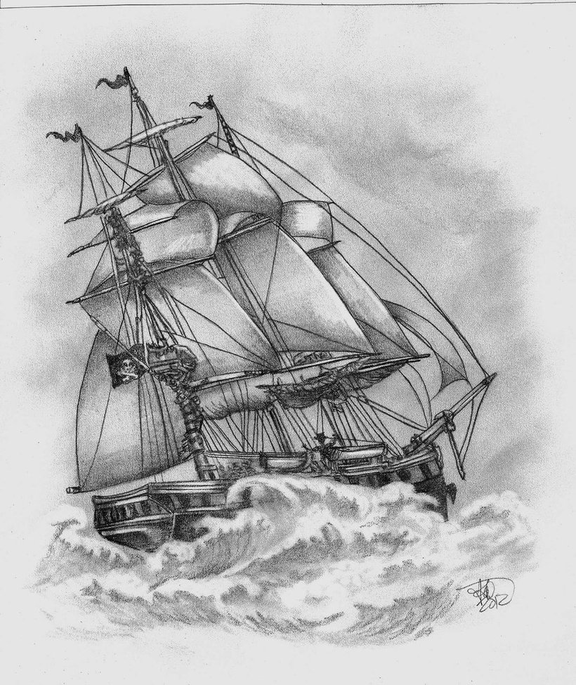 Drawn ship paper Sketch picture sketch  ship