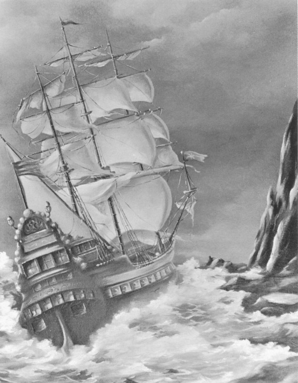 Drawn ship pirate shipwreck Drawing really Neahkahnie whose there