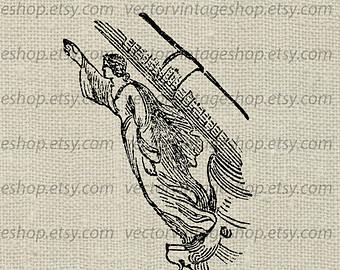 Drawn ship figurehead Figurehead WEB1750AQ Antique Figurehead Instant