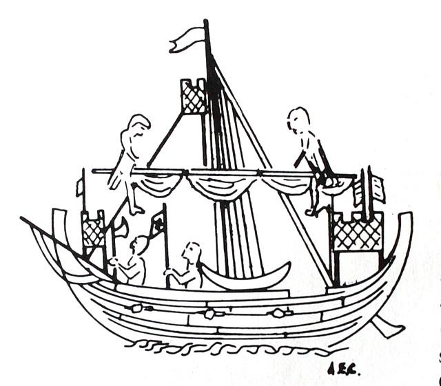 Drawn ship graffito From 1300 seal Archaeology Ship