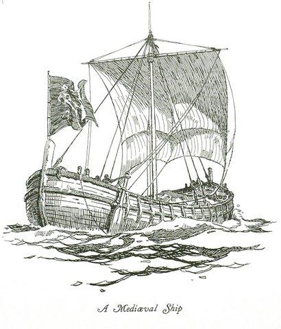 Drawn ship medieval ship 2011 Medieval Ship January Novum