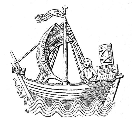 Drawn ship medieval ship  Cog Wikipedia (ship)