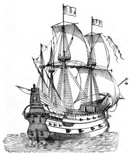 Drawn ship medieval ship Galleon medieval and Heroes Minstrels