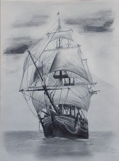 Drawn ship desert And sketches Elena boats Downloads