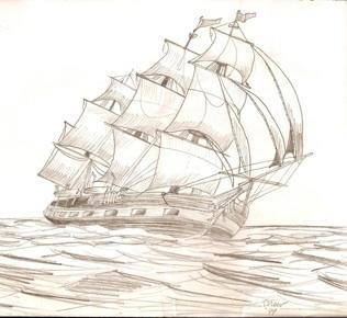 Drawn ship pencil drawing Drawings ship sailing drawing Sketches
