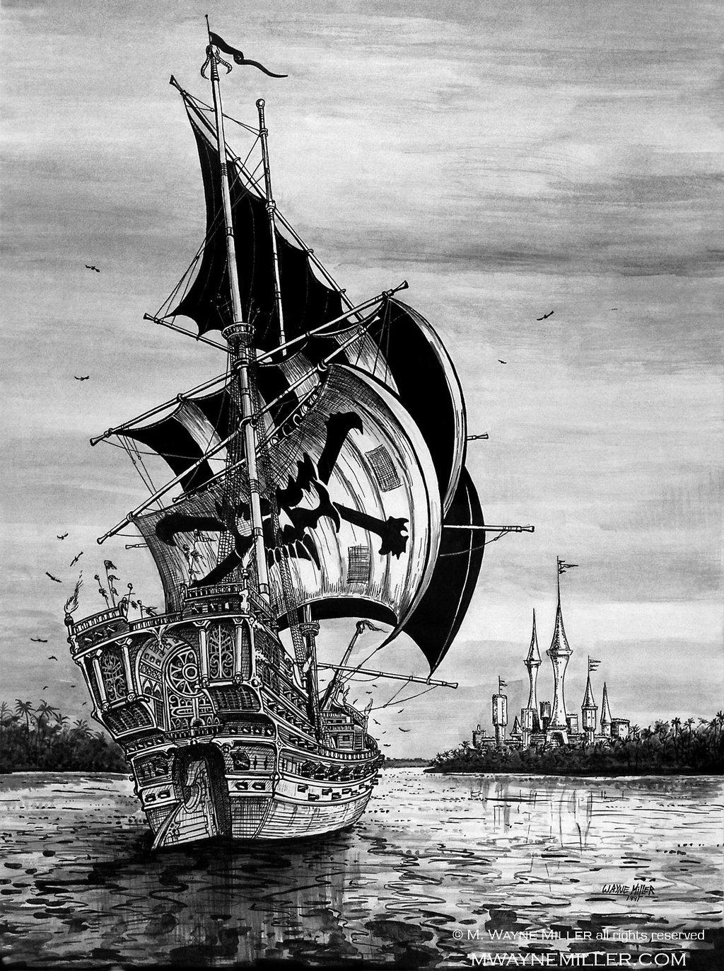 Drawn ship pirate shipwreck Ship Ship @deviantART deviantart com