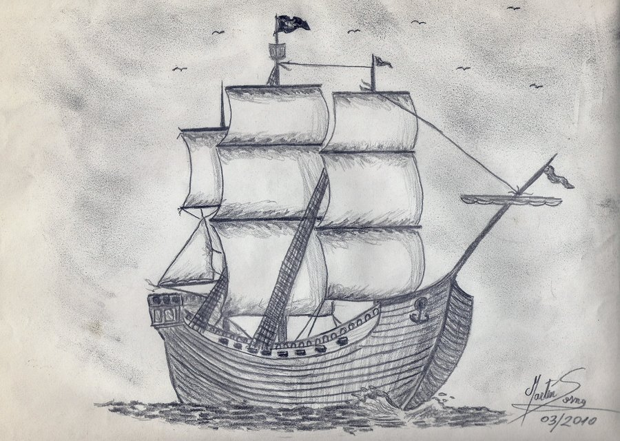 Drawn ship sailor ship Pirate Warrior Irish DeviantArt Warrior