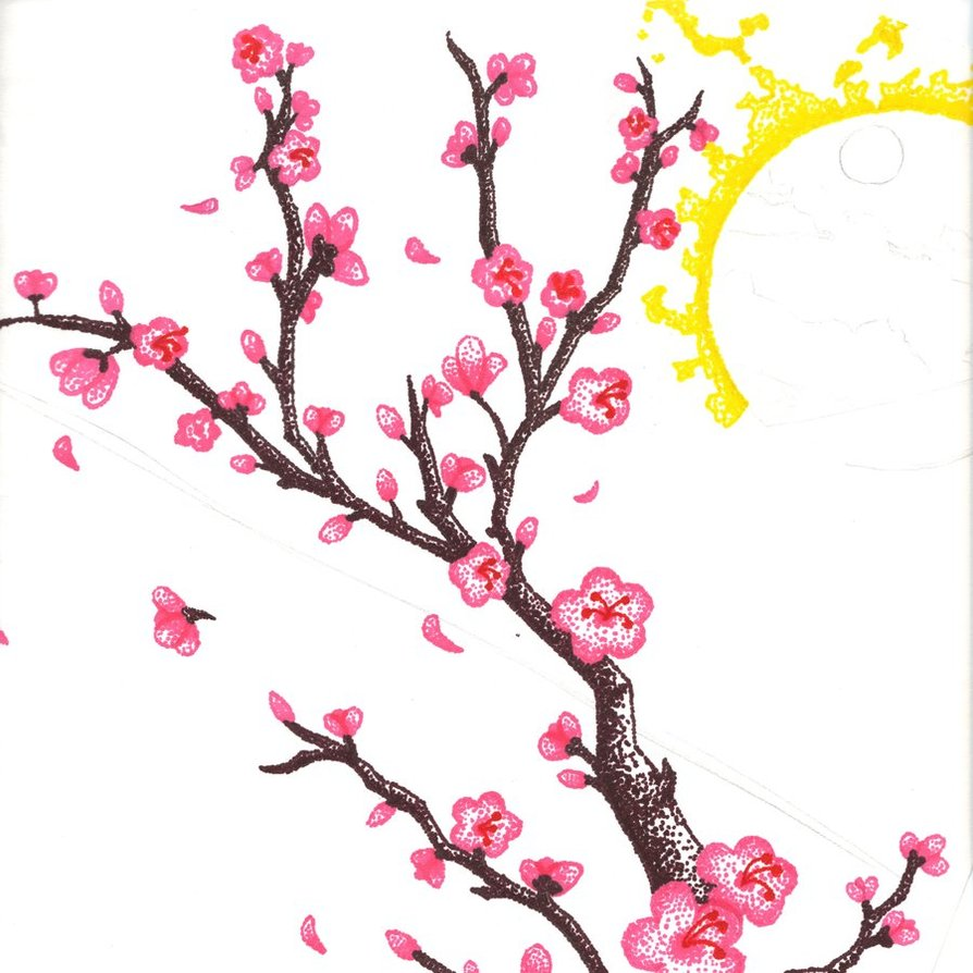 Drawn sakura blossom Download Clip Free Art library