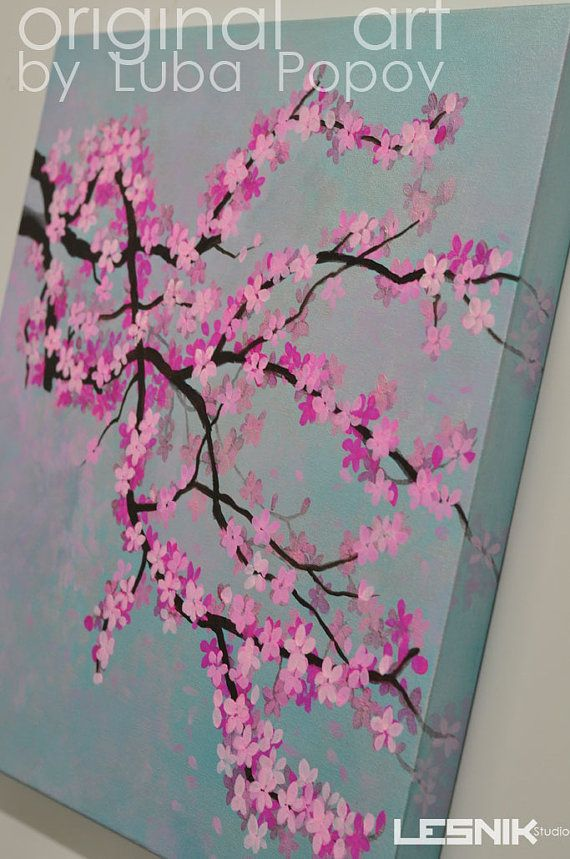 Drawn sakura blossom almond tree Pinterest Branch 20+ Canvas Large