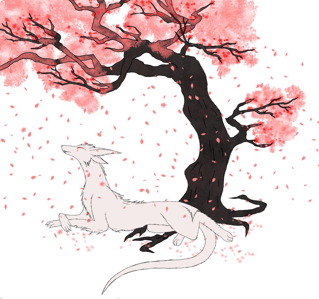 Drawn sakura blossom anime Sakura drawing sakura Sakura Sakura