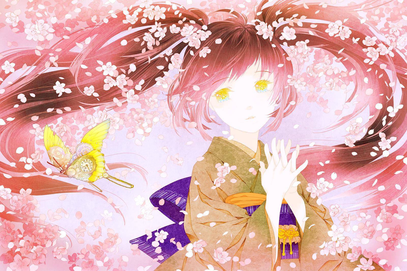 Drawn sakura blossom anime Conronca blossom cherry conronca by