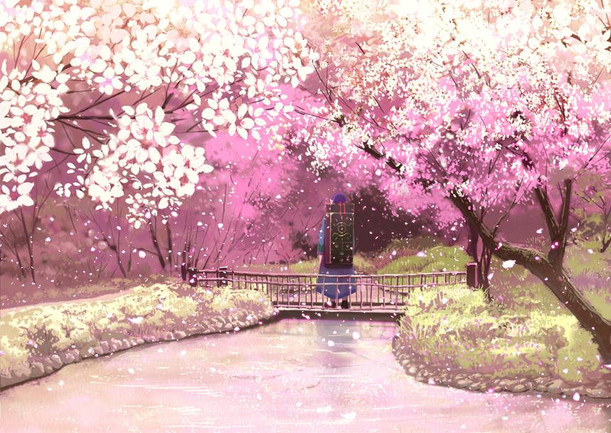 Drawn sakura blossom anime Semi >> cherry Search due