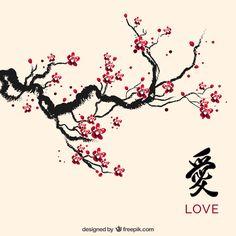 Drawn sakura blossom apricot blossom Blossoms blossoms Cherry Painting Cherry