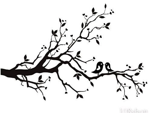 Blossom clipart black and white Cherry tree Blossom on Wd