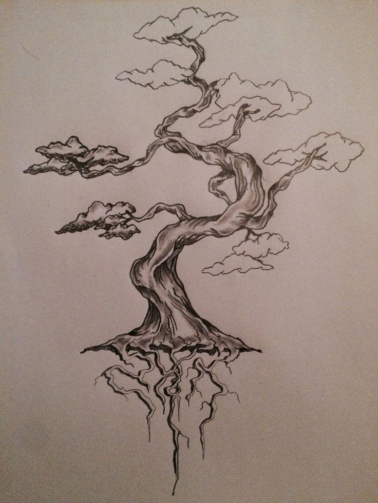 Drawn sakura blossom bonsai tree Tree you Pinterest tattoo that