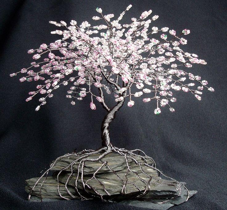 Drawn sakura blossom bonsai tree Home 39 tree Wall Pinterest