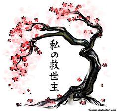 Drawn sakura blossom bonsai tree Tree Cherry tree Pinterest cherry