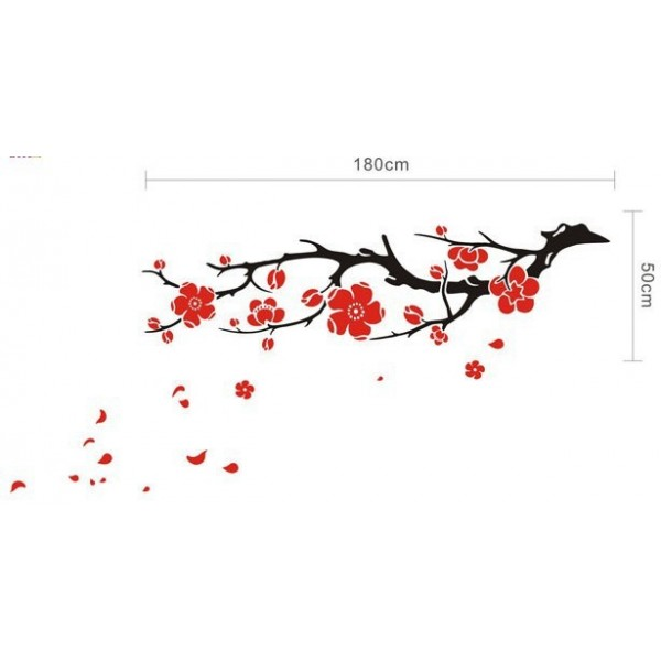 Drawn sakura blossom branch Detail for Branch Art Image