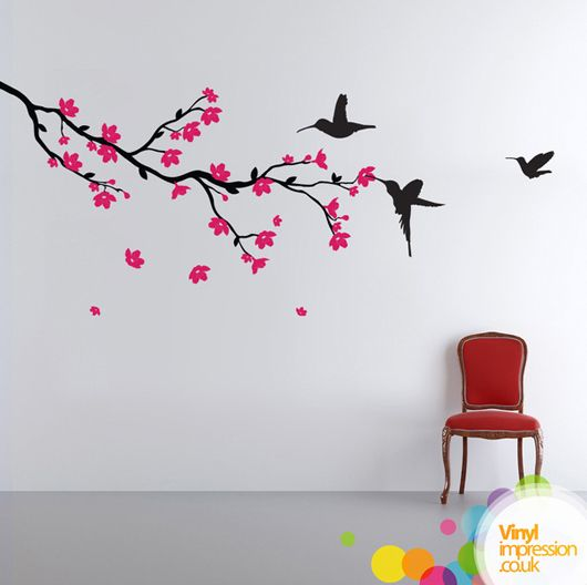 Drawn sakura blossom branch 100 ) images  Pinterest