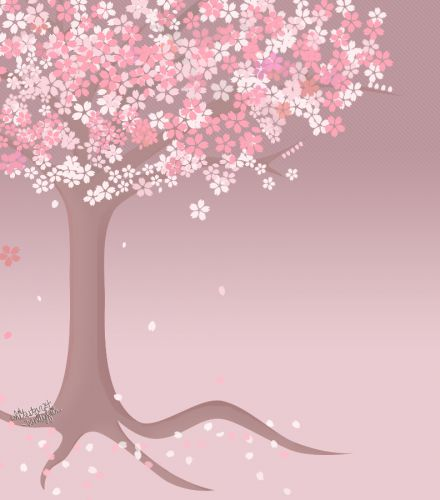 Drawn sakura blossom cartoon Cartoon Cherry images Art Cartoon