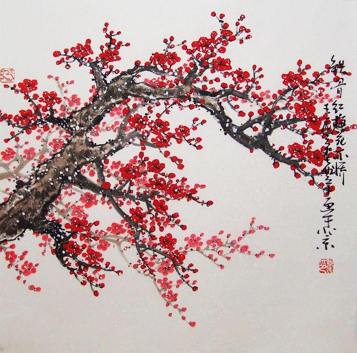 Drawn sakura blossom chinese 15 Cherry images 12 art