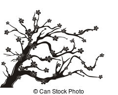 Drawn sakura blossom clip art Cherry blossom Clipart and Tree