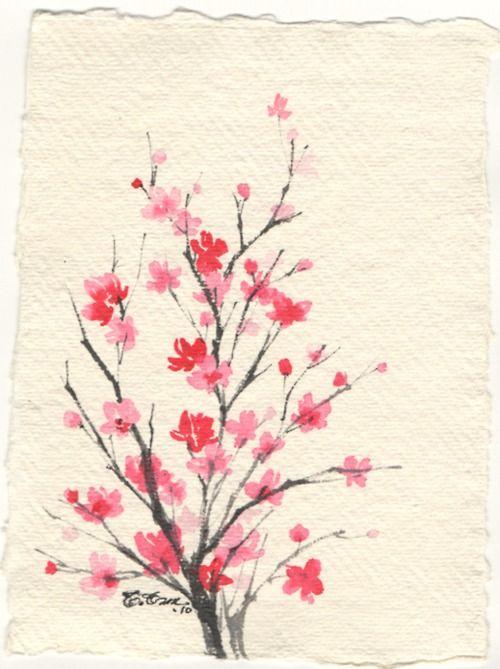 Drawn sakura blossom cute Blossoms Search Pinterest drawing blossom