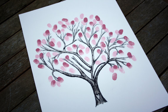 Drawn sakura blossom cute Tree WEDDING a guest original