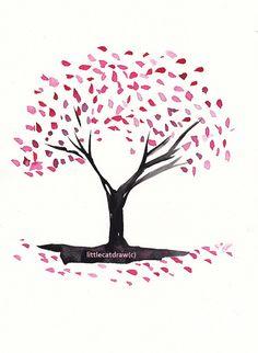 Drawn sakura blossom cute By  Rae art Blossom