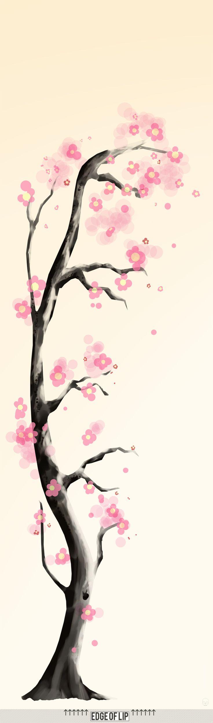 Drawn sakura blossom cute Pinterest The images on 100