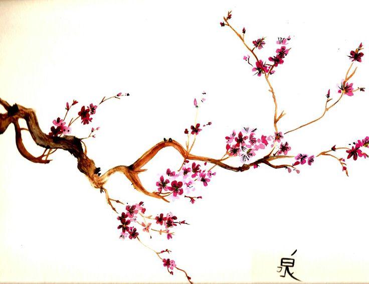 Drawn sakura blossom cute Drawing on Flowers Sakura Flowers