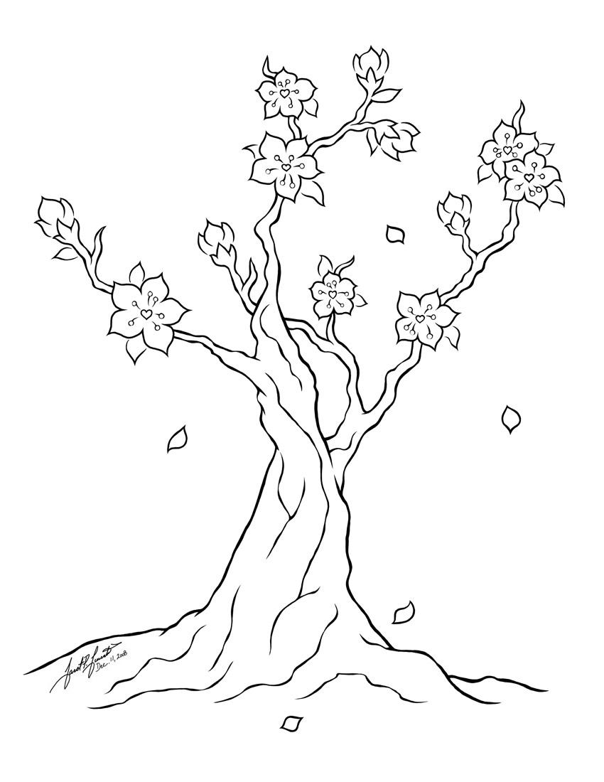 Drawn sakura blossom doodle By  Blossom @ PulseDragon