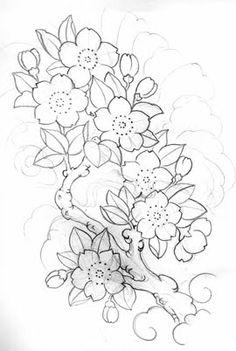 Drawn sakura blossom doodle Design  of n Creative