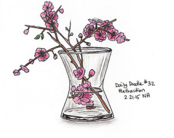 Drawn sakura blossom doodle Artwork Etsy 32 Illustration Cherry