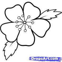Drawn sakura blossom easy Draw cherry 7 blossom Blossoms