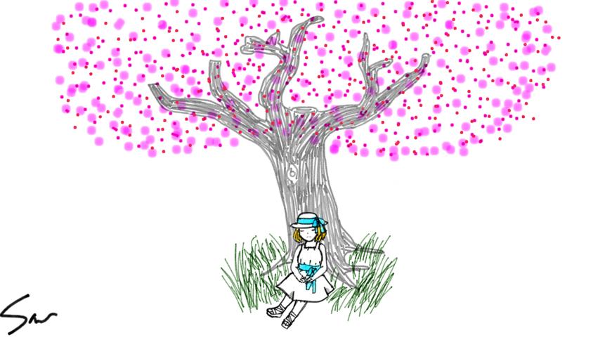 Drawn sakura blossom easy Drawing Easy Cherry Easy Blossom