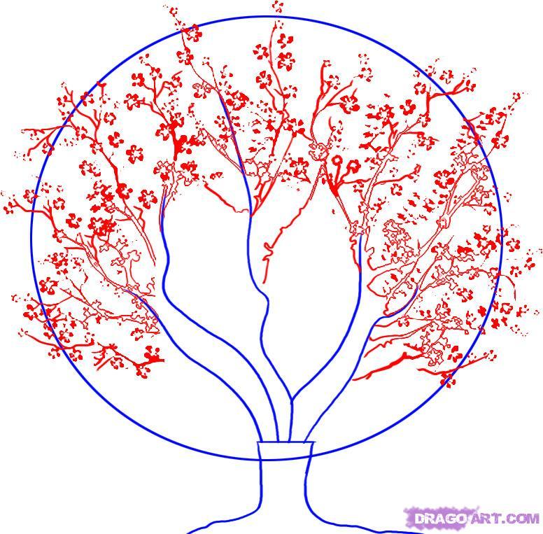 Drawn sakura blossom famous tree A Tree Draw a 2