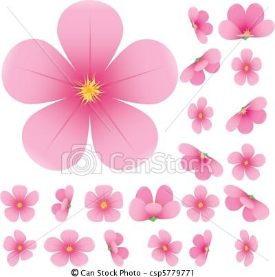 Drawn sakura blossom graphic Best cherry of pink on