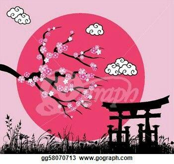Drawn sakura blossom graphic Flowers on Sakura 39 Pinterest