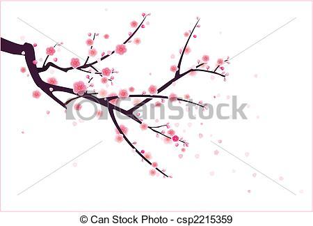 Drawn sakura blossom illustration Tree Google drawing Google