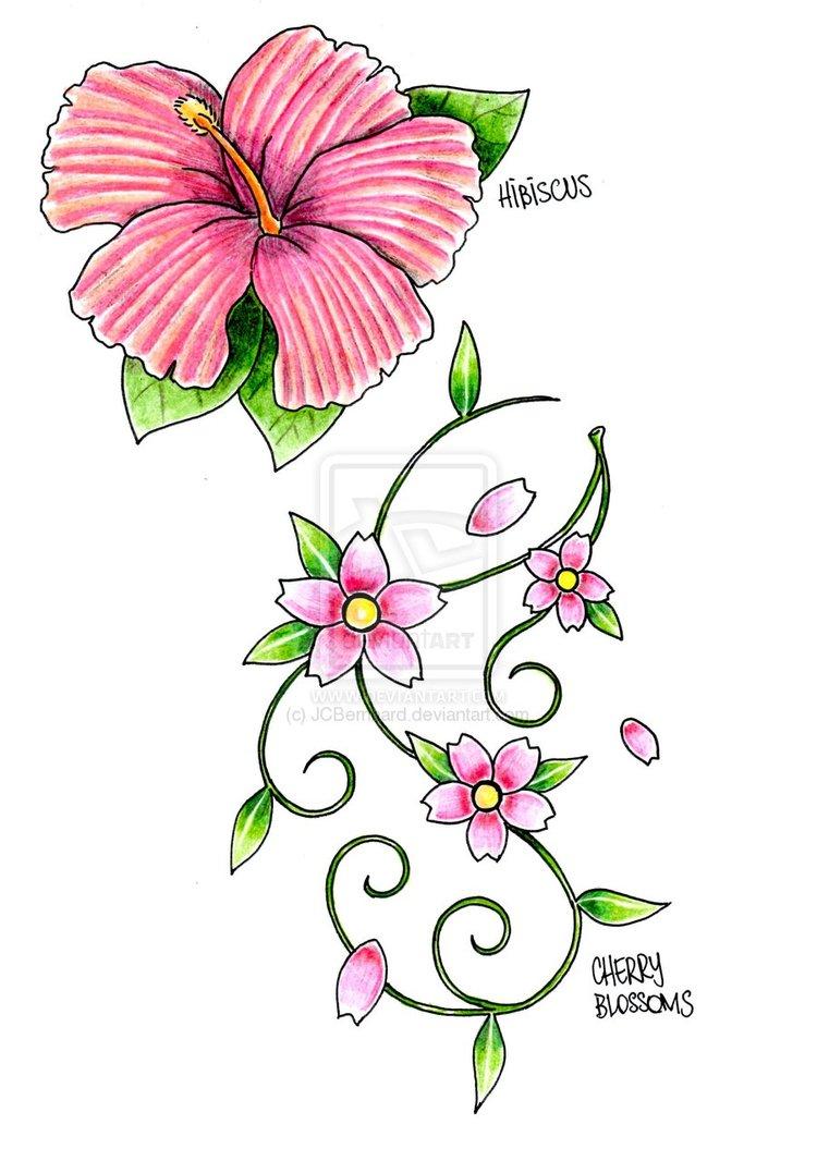 Drawn sakura blossom japenese Drawings Drawings Clipart Clipart Tattoo