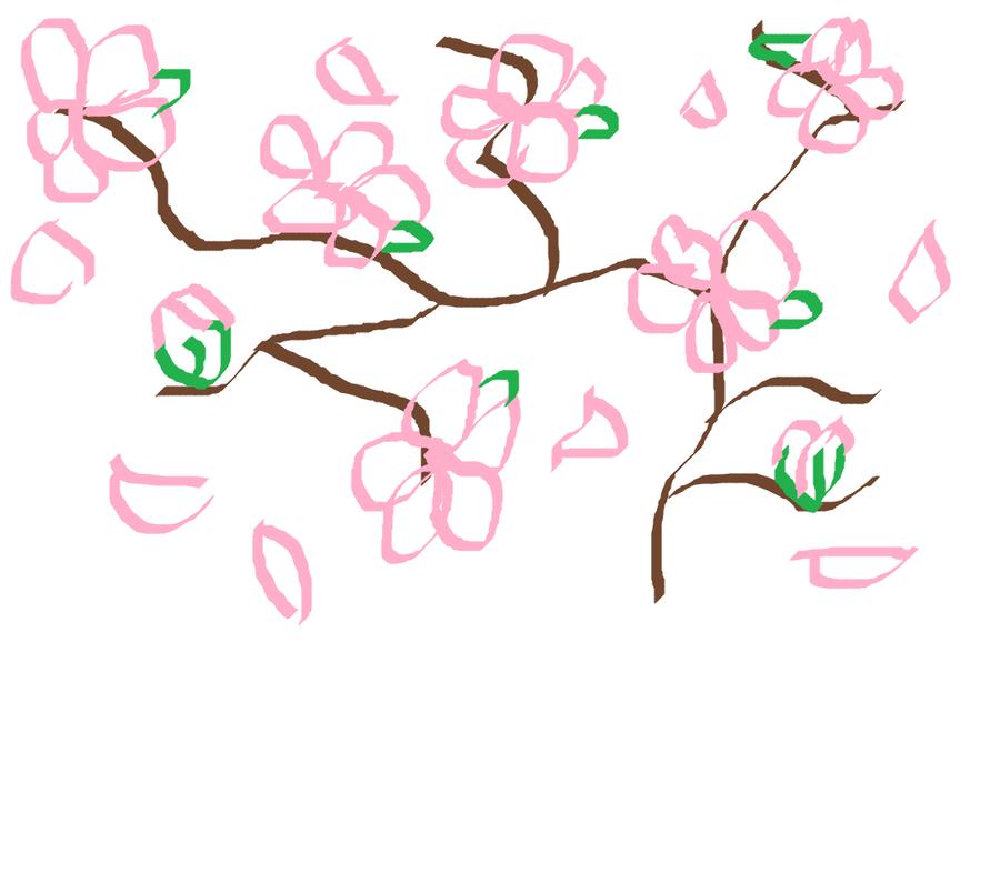 Drawn sakura blossom japenese By on sqeewee1 sqeewee1 DeviantArt