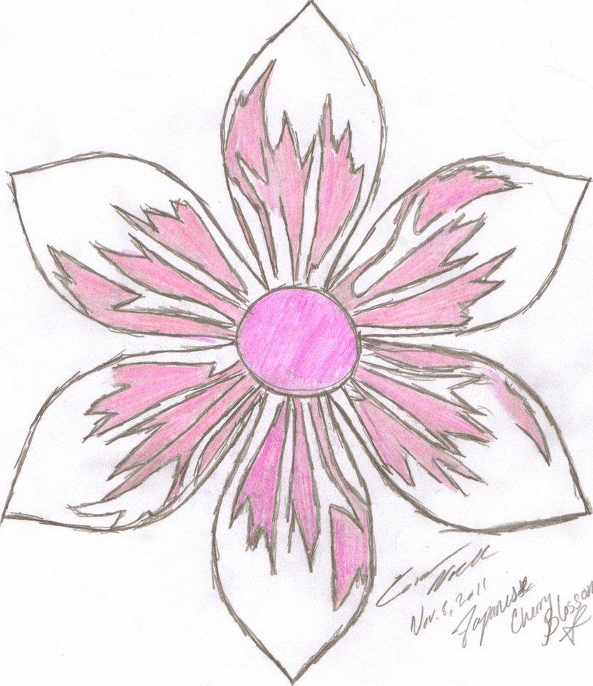 Drawn sakura blossom japenese By Flower Swaggirl11 Drawing Flower