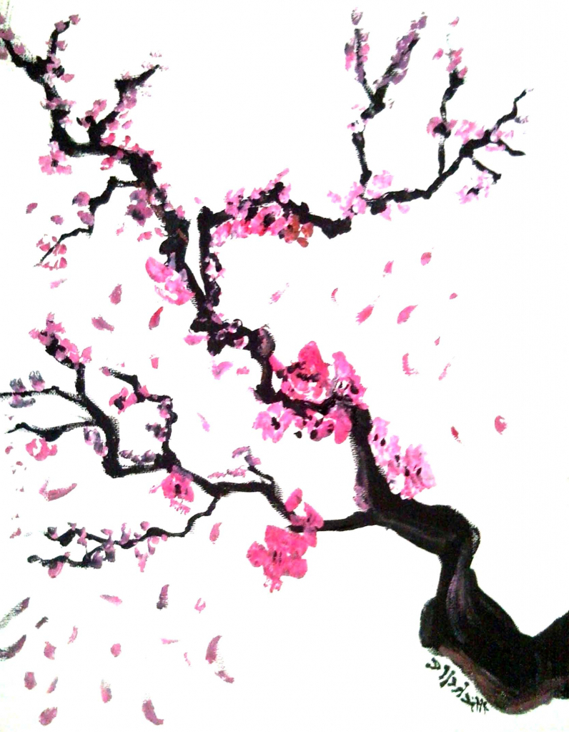 Drawn sakura blossom japenese Japanese Blossom Cherry Art Cherry