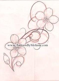 Drawn sakura blossom line drawing Candy Capo ken flower swirl