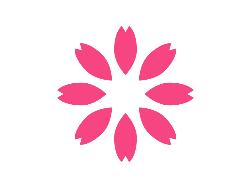 Drawn sakura blossom logo In Tool for cherry on