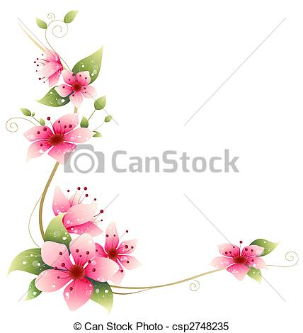 Drawn sakura blossom flower petal Stock beautiful of Sakura Illustrations