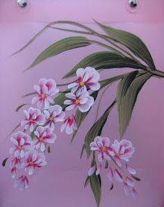 Drawn sakura blossom one stroke Stroke Google'da Painting: of One